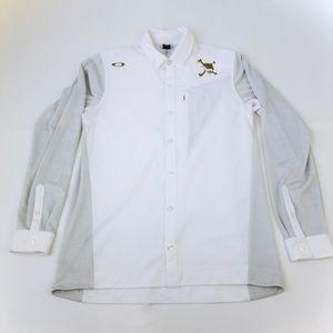 OAKLEY Men's White Active Dress Shirt Size Large